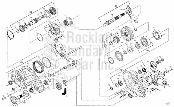Borg Warner 4411 Torque on Demand Transfer Case diagram