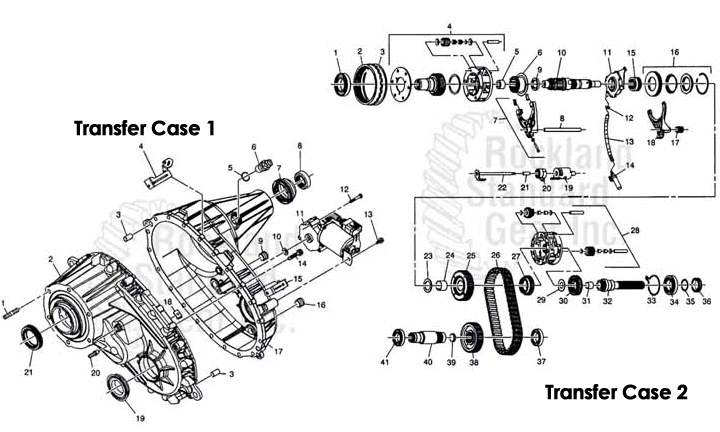Borg warner 4484 transfer case rockland standard gear inc borg warner 4484 transfer case gmc hummer sciox Choice Image