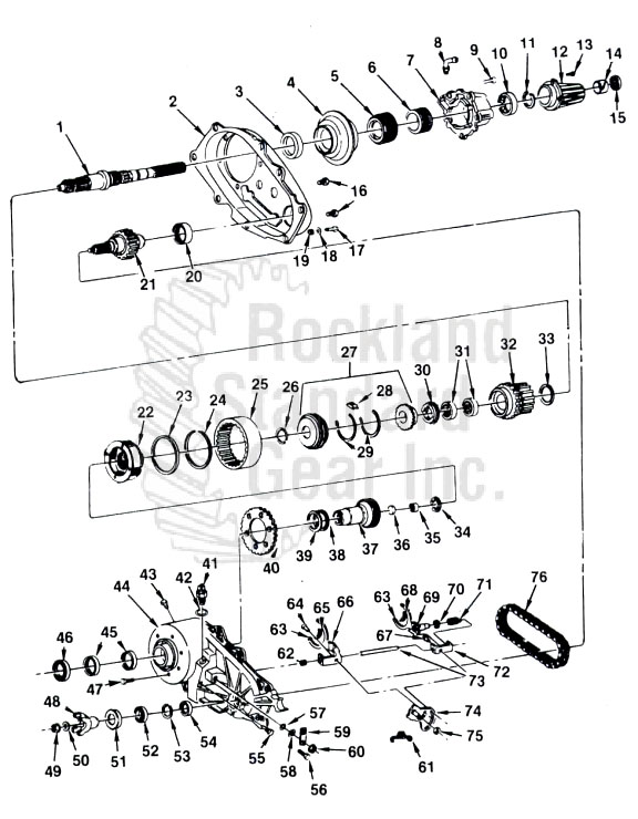 New Process 207 Transfer Case diagram