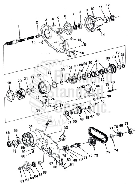 208 New Process Transfer Case Diagram