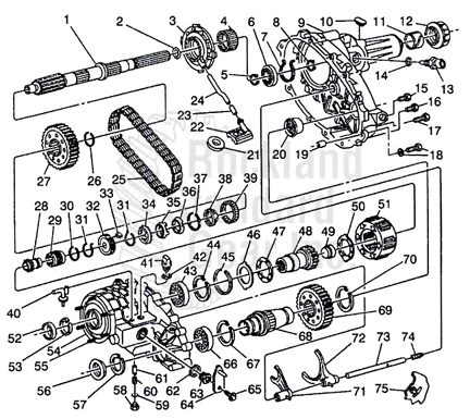 New Venture 261 Transfer Case / GMC / Bravada / Envoy / Trailblazer 4X4 diagram