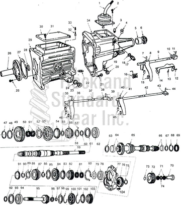 New Process 535 Transmission diagram