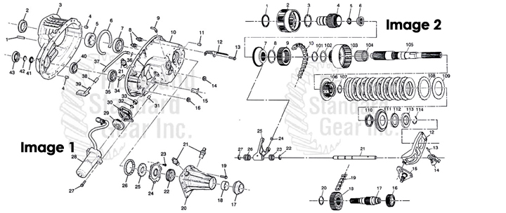 New Venture 226C Transfer Case / GMC / Bravada / Envoy / Trailblazer 4X4 diagram