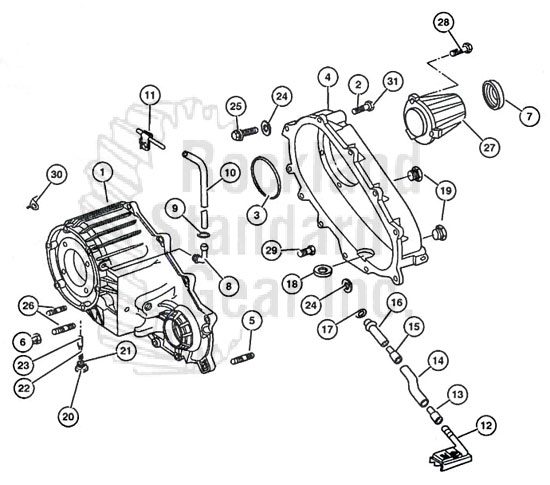 New Venture 273 Transfer Case diagram