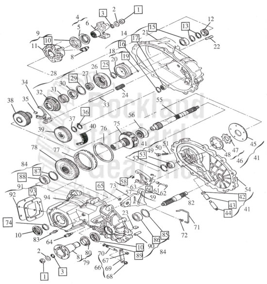 Borg Warner 4470 Transfer Case