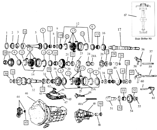 Toyo Koygo Mazda Transmission diagram