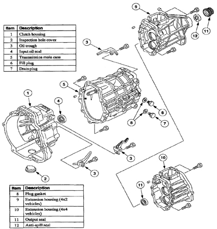 Toyo Koygo Mazda Transmission / Explorer 2002 diagram parts